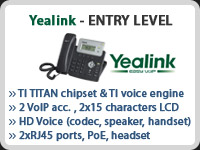 Yealink Entry Level ID Phone