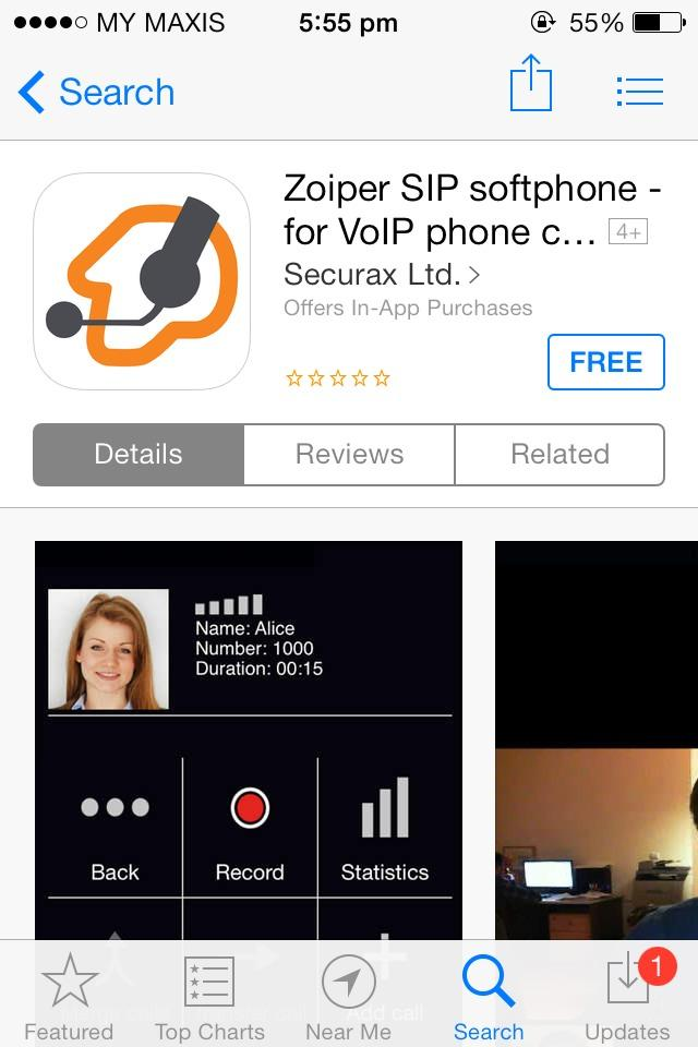 Malaysia VoIP Discounted Call Rates | iOS Zoiper App for iPhone