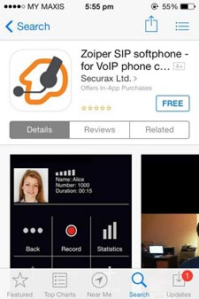 Malaysia VoIP Discounted Call Rates | iOS Zoiper App for