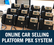 online car selling platform voip pbx system