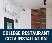 college restaurant cctv installation selangor