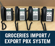 groceries import/export company voip pbx system